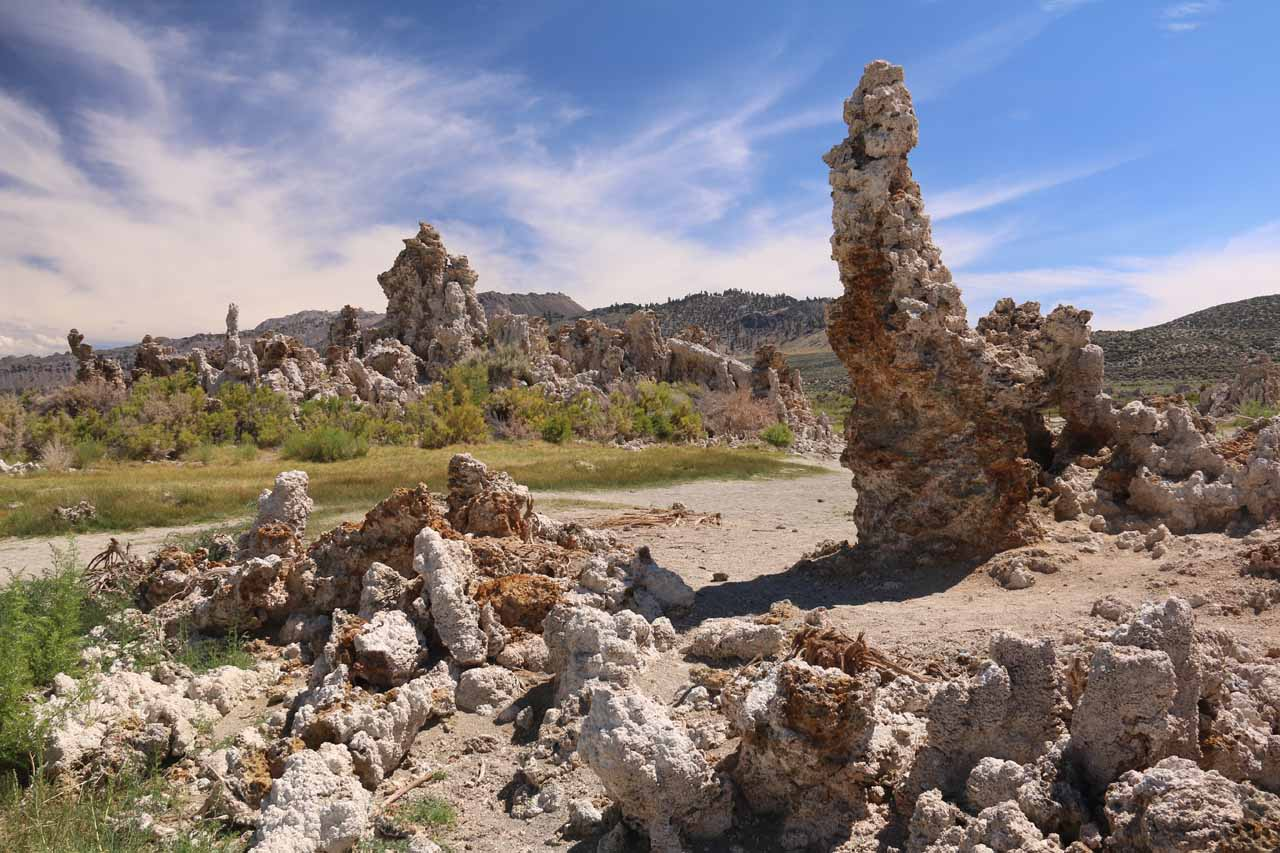 Walking amongst a jumble of tufas in the South Tufa Reserve of Mono Lake