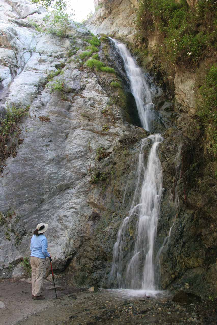 My mom checking out Monrovia Canyon Falls