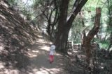 Monrovia_Canyon_14_047_04202014 - One brief moment where we let Tahia walk on her own while flanked by a short dropoff