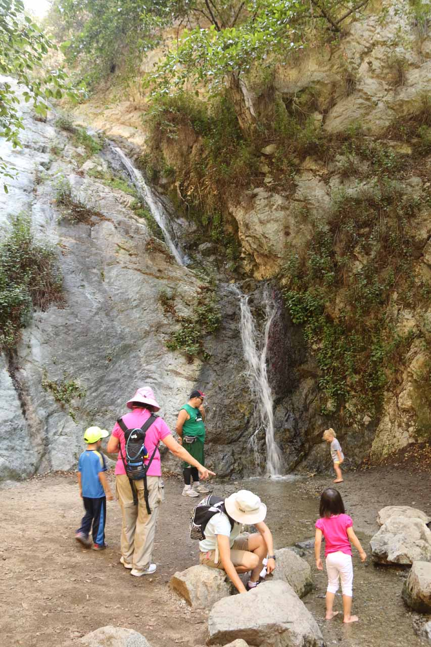 Monrovia Canyon Falls in drought-stricken Summer
