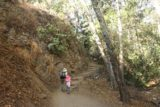 Monrovia_Canyon_Falls_011_11132016 - Julie and Tahia about to climb up some steps as the trail started to narrow during our visit in November 2016