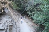 Monrovia_Canyon_Falls_017_11132016 - Julie and Tahia descending along another narrow part of the Monrovia Canyon Falls Trail in November 2016