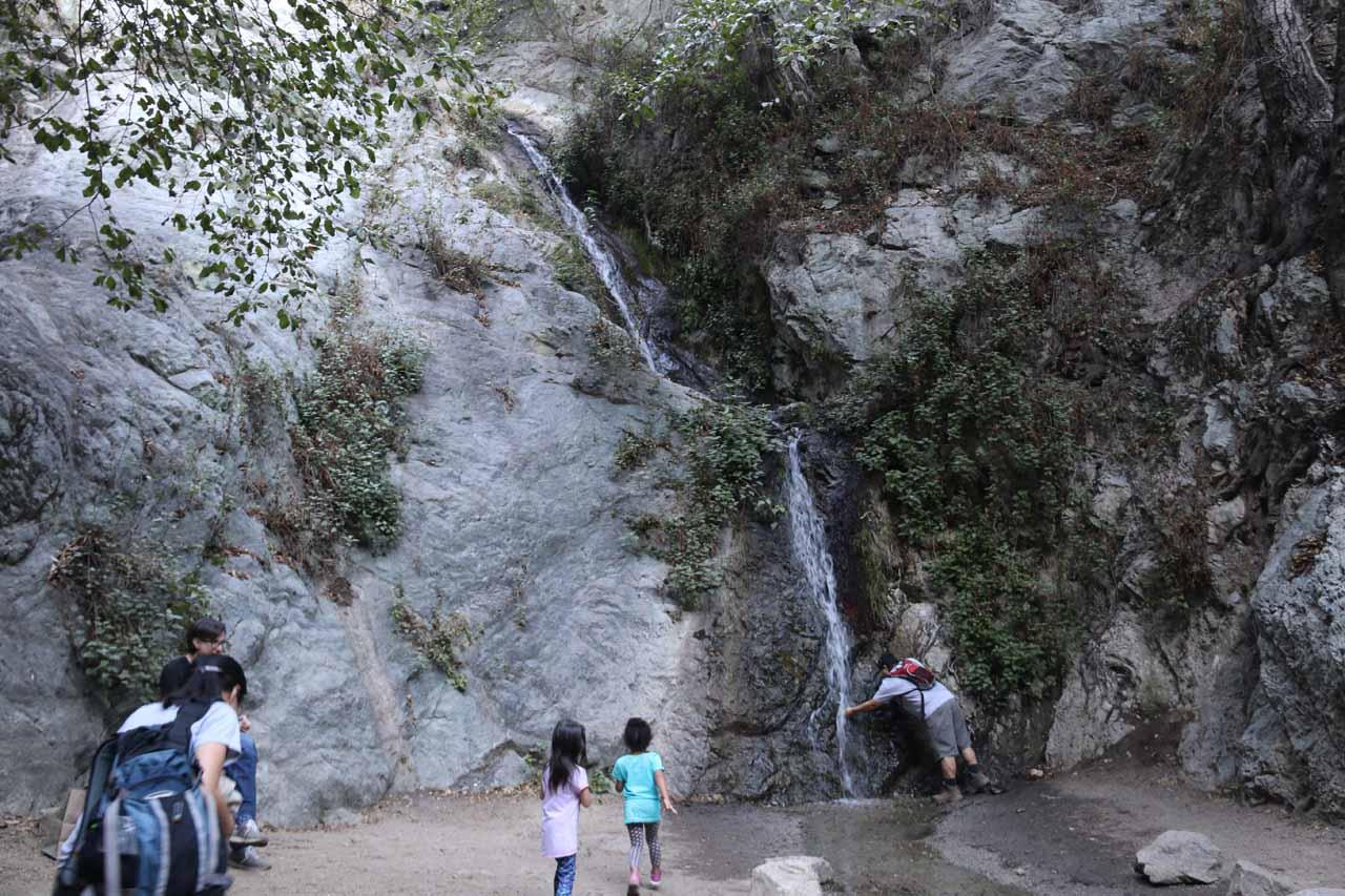 Tahia and a friend playing at Monrovia Canyon Falls