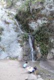 Monrovia_Canyon_Falls_039_11132016 - Tahia and a stranger were instant playmates at the Monrovia Canyon Falls during our November 2016 visit