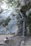 Monrovia_Canyon_Falls_049_11132016 - Another look at Tahia playing in the waters of Monrovia Canyon Falls in November 2016 flow