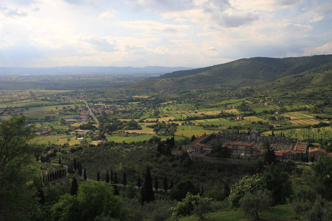 The panorama as seen from Cortona