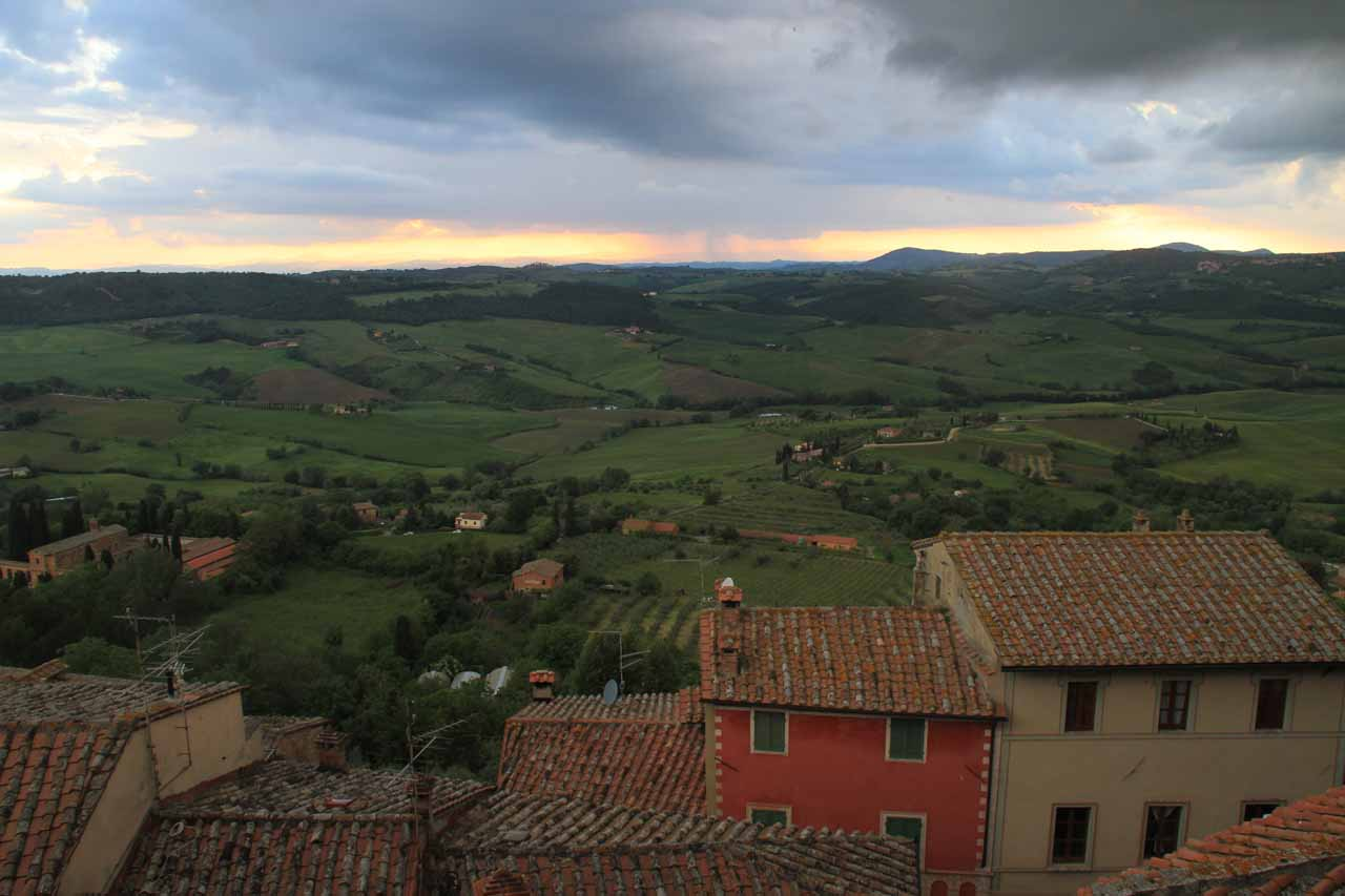 Looking out from our hotel room in Montepulciano