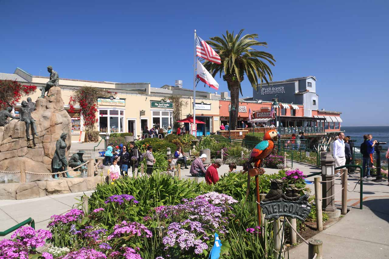 Beautiful day to be enjoying this part of Cannery Row