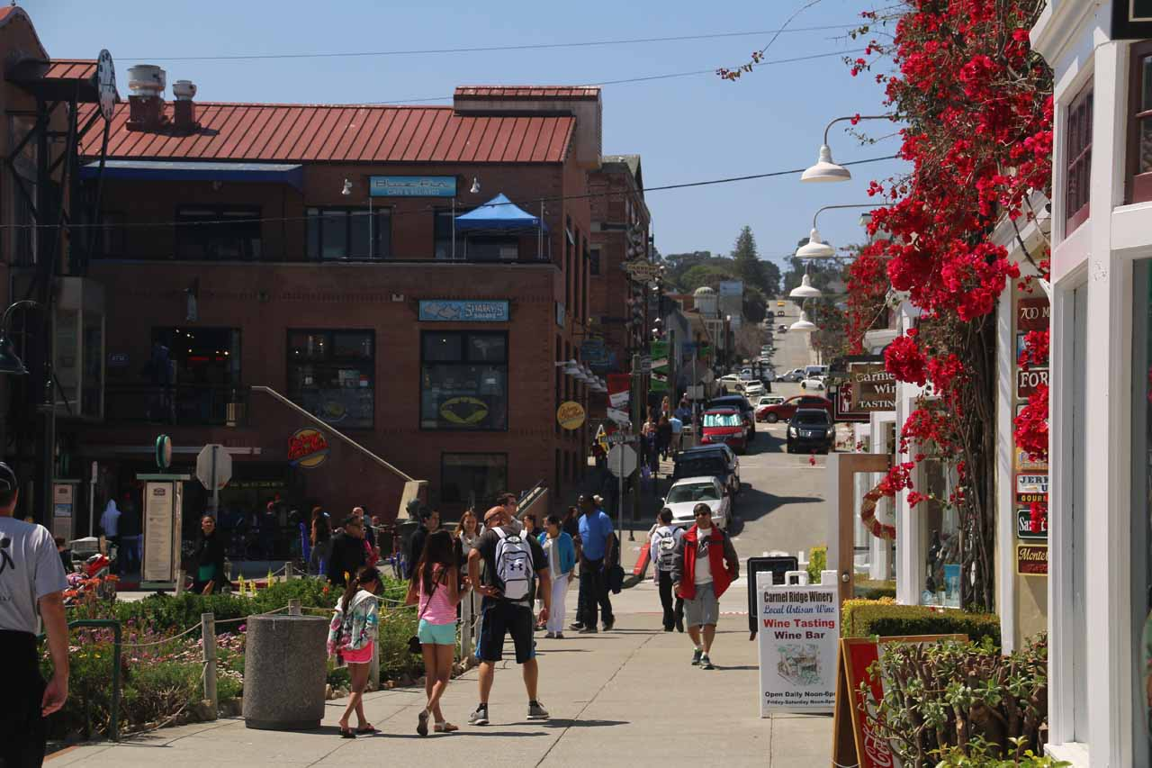 After lunch, we passed through Cannery Row and back to our street-parked car