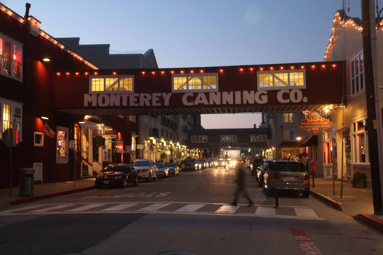 Last look at Cannery Row before we returned to the car