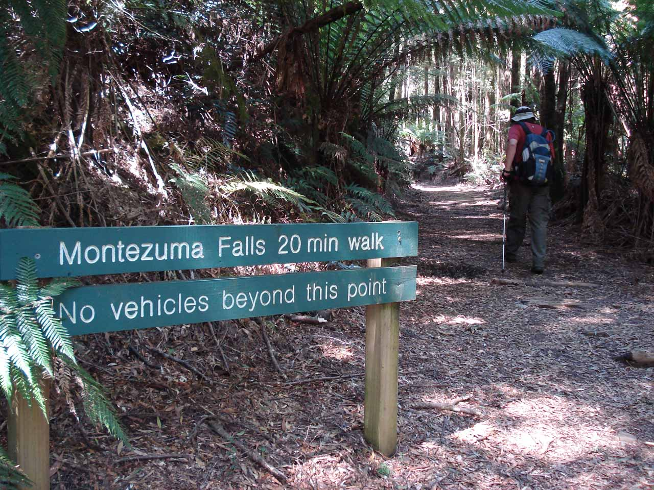 At this point, the Montezuma Falls track narrowed even more so no motorized vehicles could continue