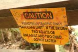 Montezuma_Falls_17_146_11292017 - It was a long way down the suspension bridge so these instructions had better be heeded before Montezuma Falls