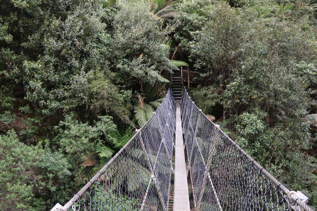 Going back across the suspension bridge