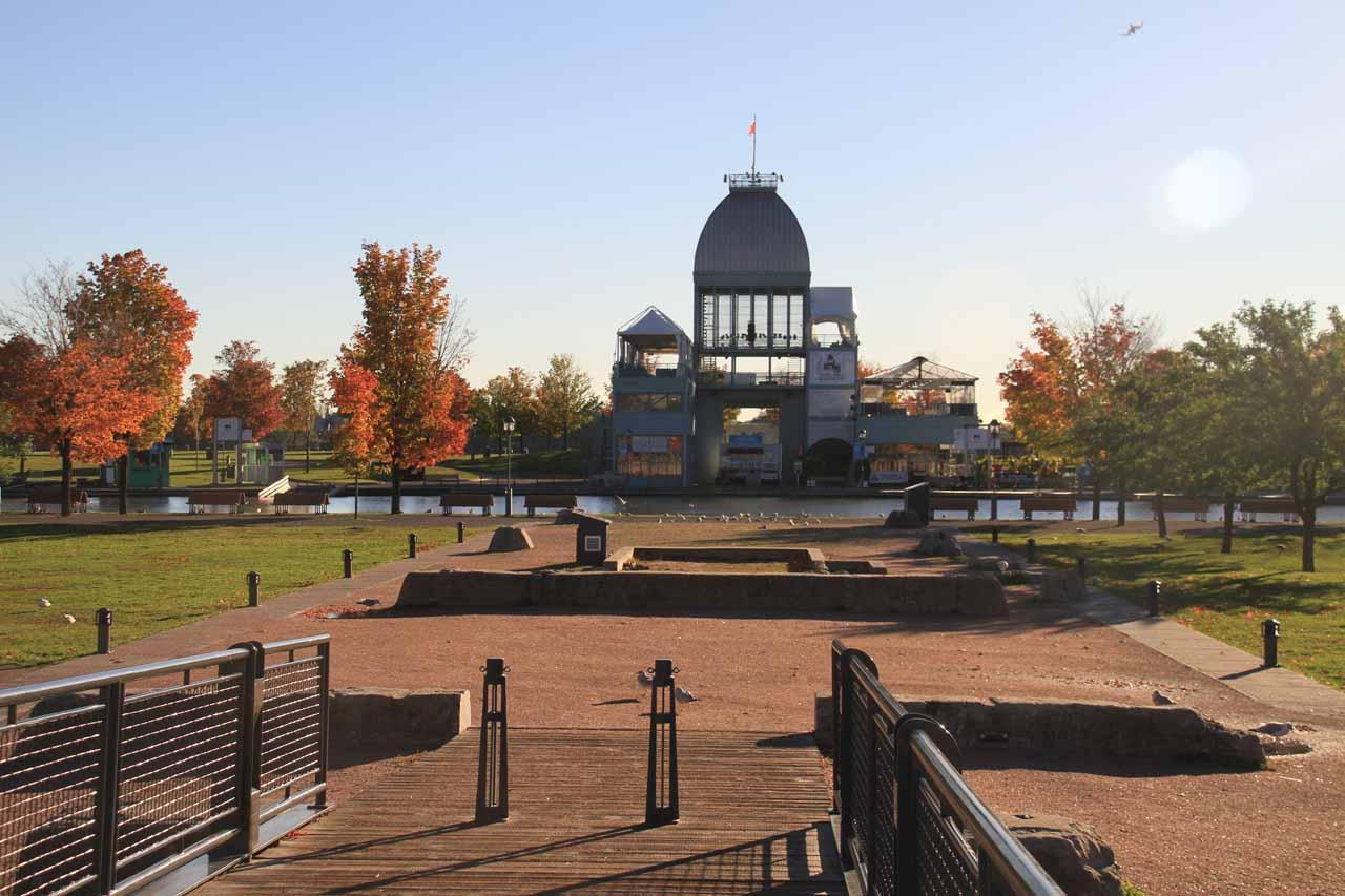 A park fronting the Quai Horloge