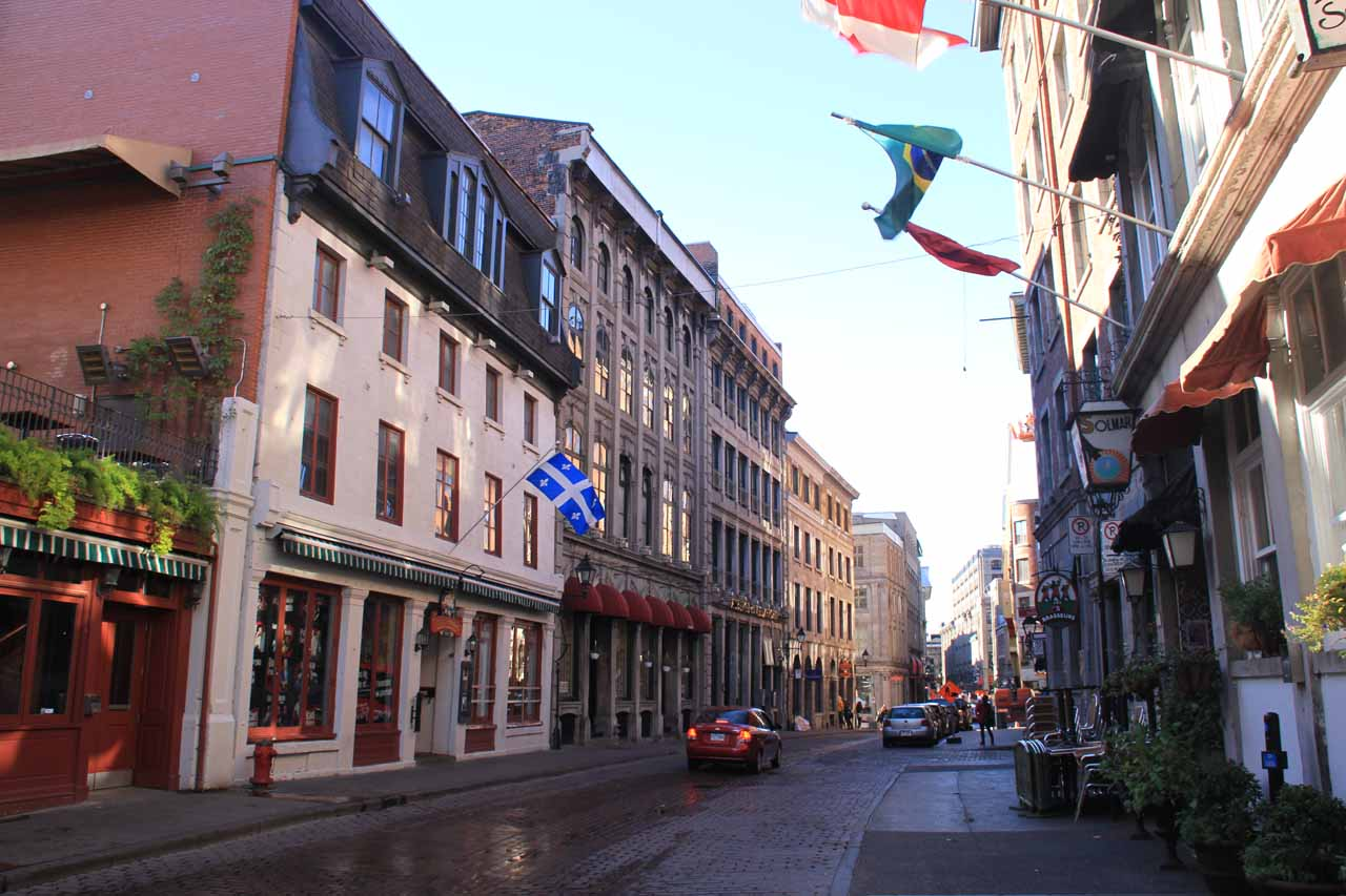 A charming street in Old Montreal