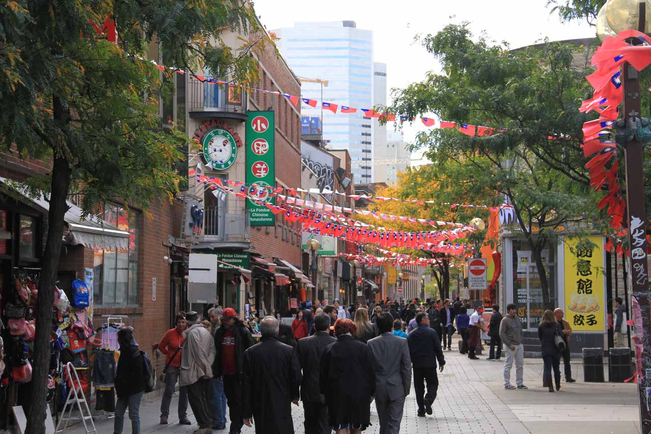 Our first look at Chinatown in Montreal, but this was actually a charming little spot instead of the run down poor area we had expected