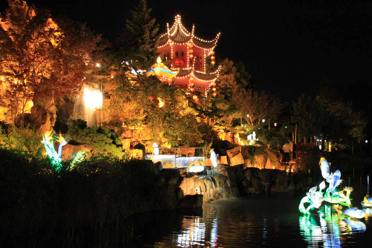 The back side of the main pond of the Chinese Garden