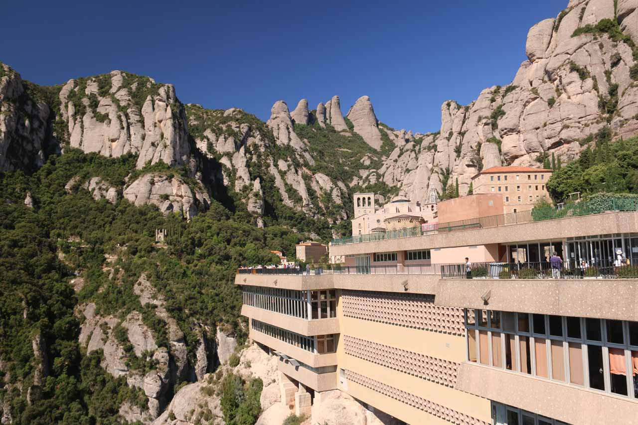 Espot might be 212km (roughly 3 hours drive) from the monastery at Montserrat, but this place reminded us of the kinds of monasteries you might find in the Greek town of Meteora, but way busier