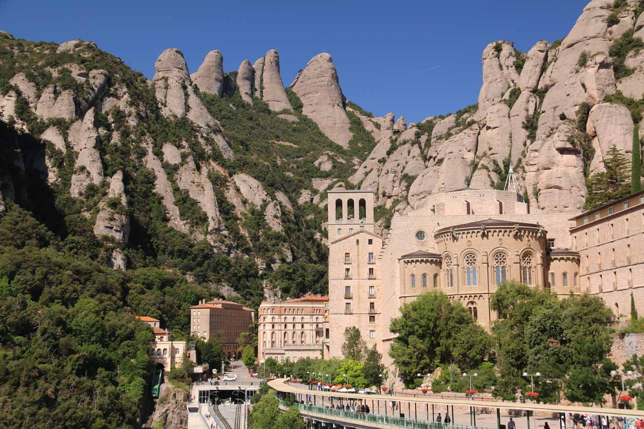 The Monastery at Montserrat was where we went on the same day we visited the Monastery at Sant Miquel de Fai. It was dramatically situated and hence was very popular given its proximity to Barcelona