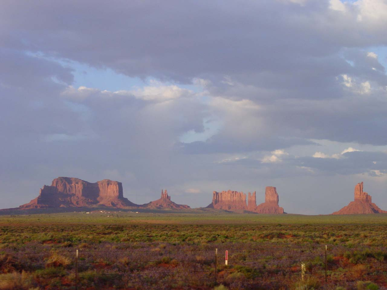 Formations as we were leaving Monument Valley