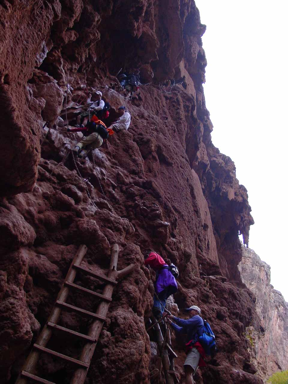 The steep descent to the base of Mooney Falls