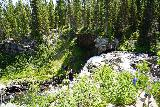 Moose_Falls_005_08062020 - Looking towards the brink of Moose Falls where some people scrambled to get a closer look from up there in August 2020