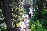 Moose_Falls_010_08062020 - Tahia descending towards the bottom of Moose Falls during our August 2020 visit