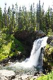 Moose_Falls_013_08062020 - Portrait view of the attractive Moose Falls as seen in August 2020