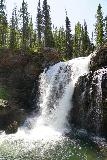 Moose_Falls_019_08062020 - More contextual portrait view of Moose Falls from right by the edge of its plunge pool during our August 2020 visit