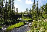 Moose_Falls_043_08062020 - Looking upstream at the road bridge over Crawfish Creek as I headed back to the parking area for Moose Falls to end our time in Yellowstone National Park in August 2020
