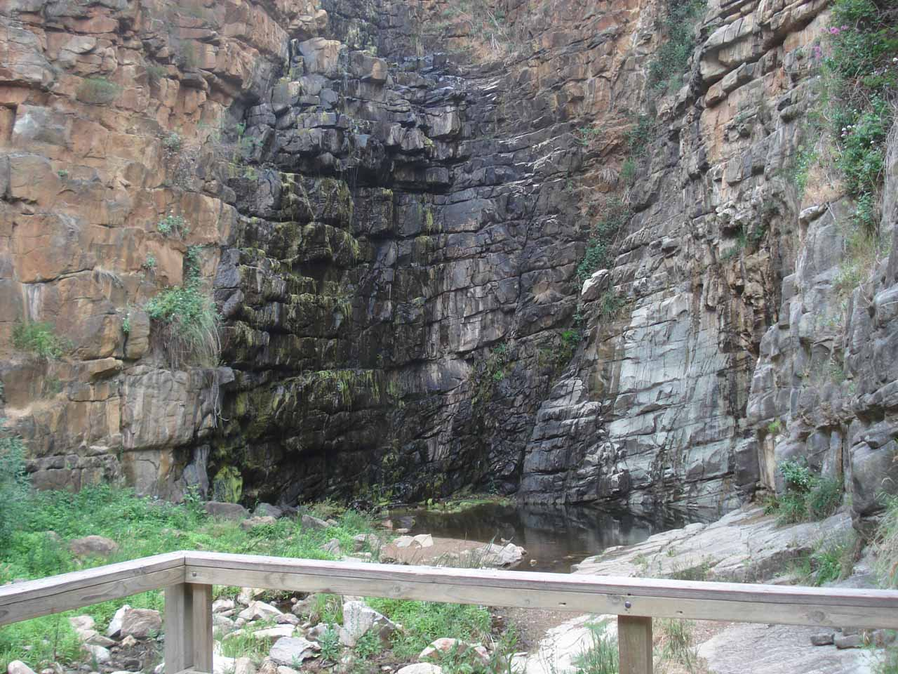 When we finally made it to the First Falls (Morialta Falls), we were disappointed to see it was dry