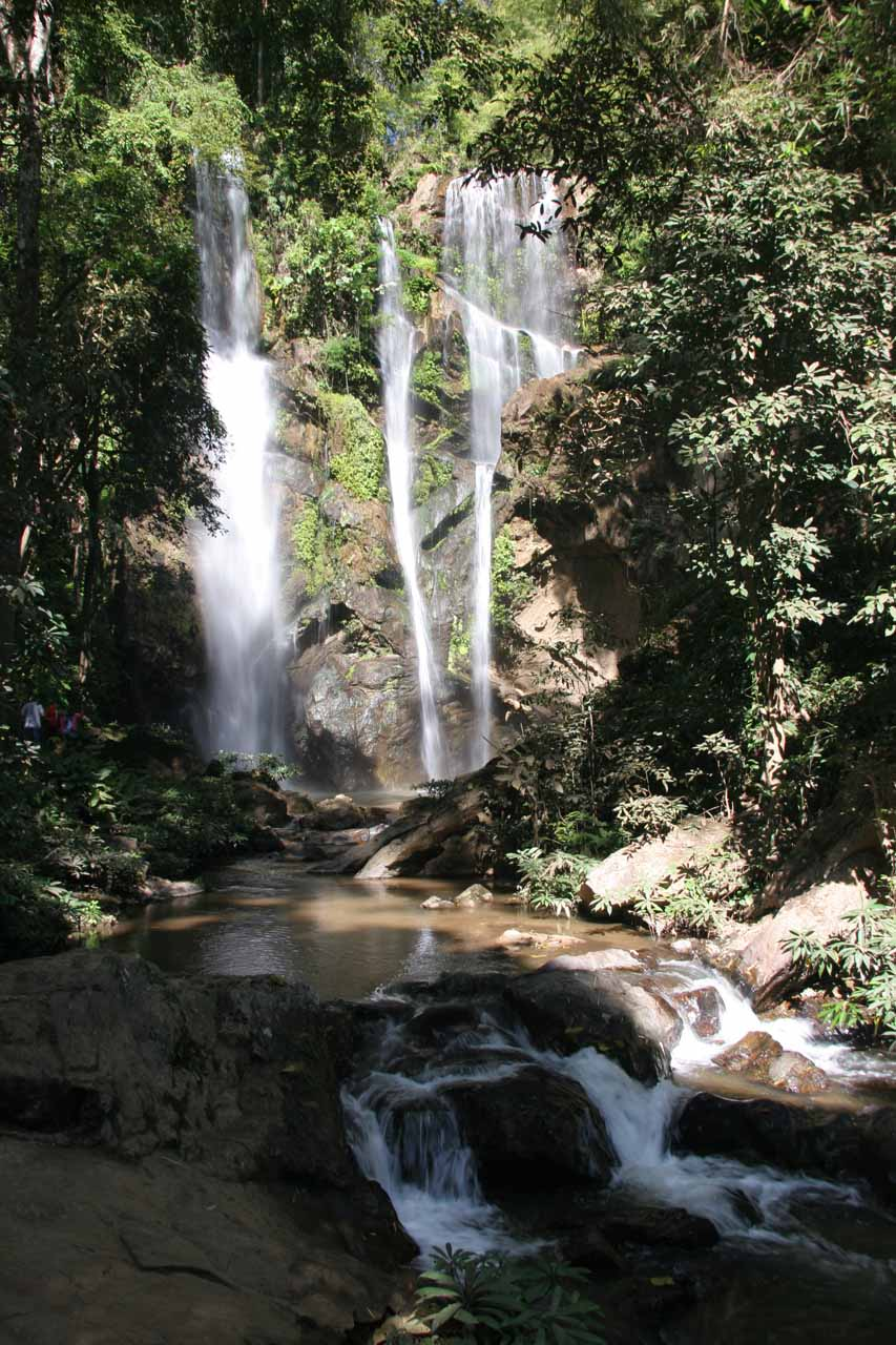 View of Mork Fah Waterfall from the very end of the trail