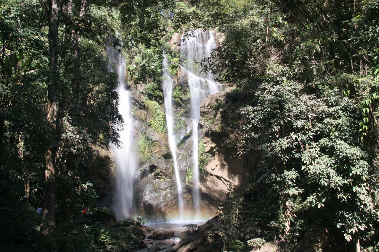 At this point we had to scramble in order to get beyond the obstructions and see more of the Mork-Fa Waterfall