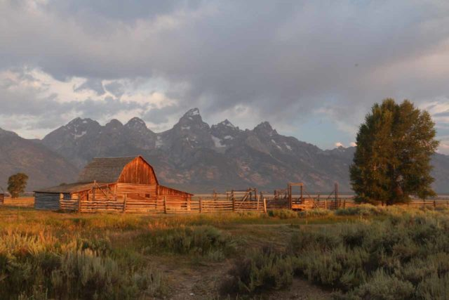 Mormon_Row_050_08132017 - Further to the south from Lewis Falls was the Grand Teton National Park, where the impressive skyline of the Tetons themselves could be seen fronted by various subjects like the Mormon Row barns
