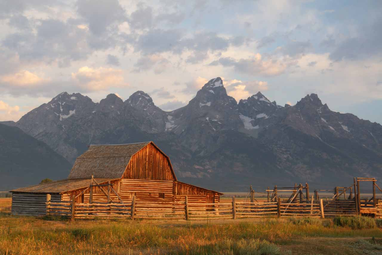 Although the Union Falls hike was within the Yellowstone National Park boundaries, it felt like the attractions of the Grand Tetons were closer than Yellowstone's more famous spots