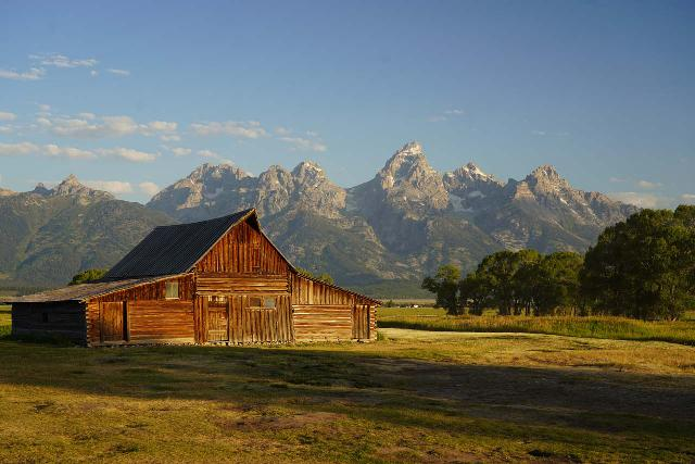 Mormon_Row_102_08072020 - Prior to making the very long drive to the Wind River area, I did a pre-dawn start to try to photograph the signature barns of Mormon Row fronting the Grand Teton skyline at sunrise