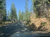 Mosquito_Ridge_Road_010_iPhone_04102021 - Approaching a signpost pointing the way to Grouse Falls Overlook, which I didn't recall was there the last time Mom and I drove here in 2016