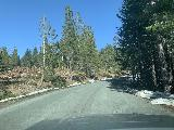 Mosquito_Ridge_Road_012_iPhone_04102021 - Snow flanking the Mosquito Ridge Road between the Peavine Road turnoff and the Placer County Big Trees Trail turnoff