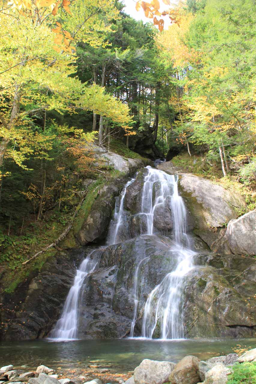 Frontal view of Moss Glen Falls by Granville