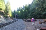 Mossbrae_Falls_023_06192016 - This clearing with some railroad artifacts preceded the tressel bridge.  We didn't need to cross the tressel as there was a trail of use to our right that led right down to Mossbrae Falls