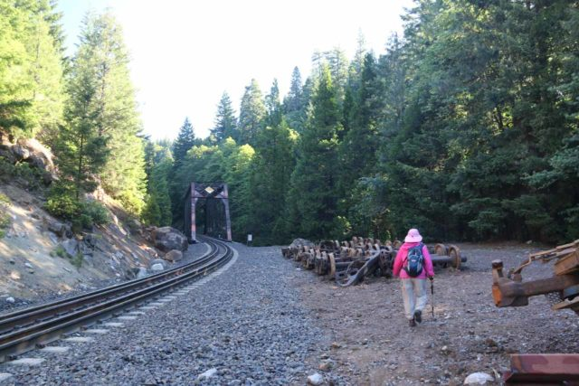 Mossbrae_Falls_023_06192016 - Approaching the tressel bridge with a lot of railroad artifacts strewn to the side, which was near the final descent to the Mossbrae Falls