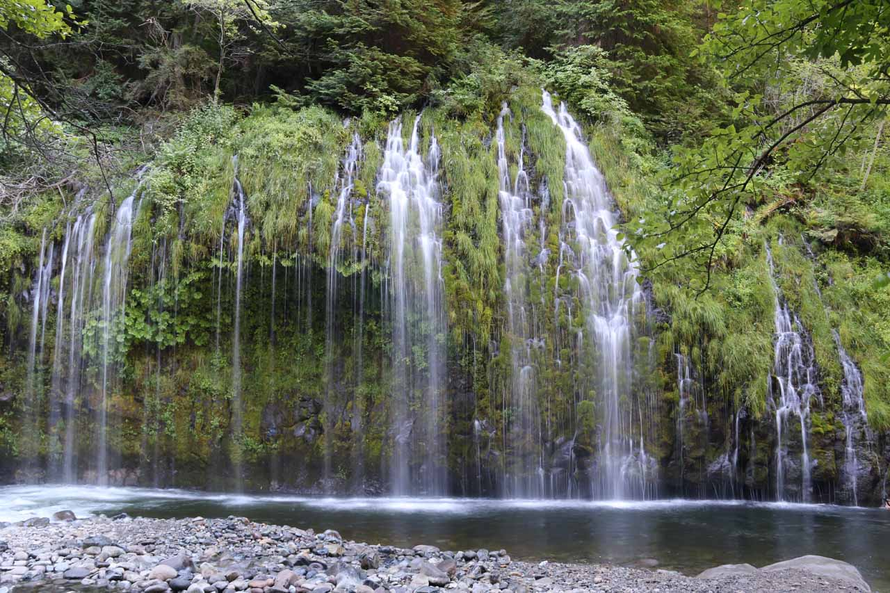This section of Mossbrae Falls was towards the right, and it was probably the most attractive part