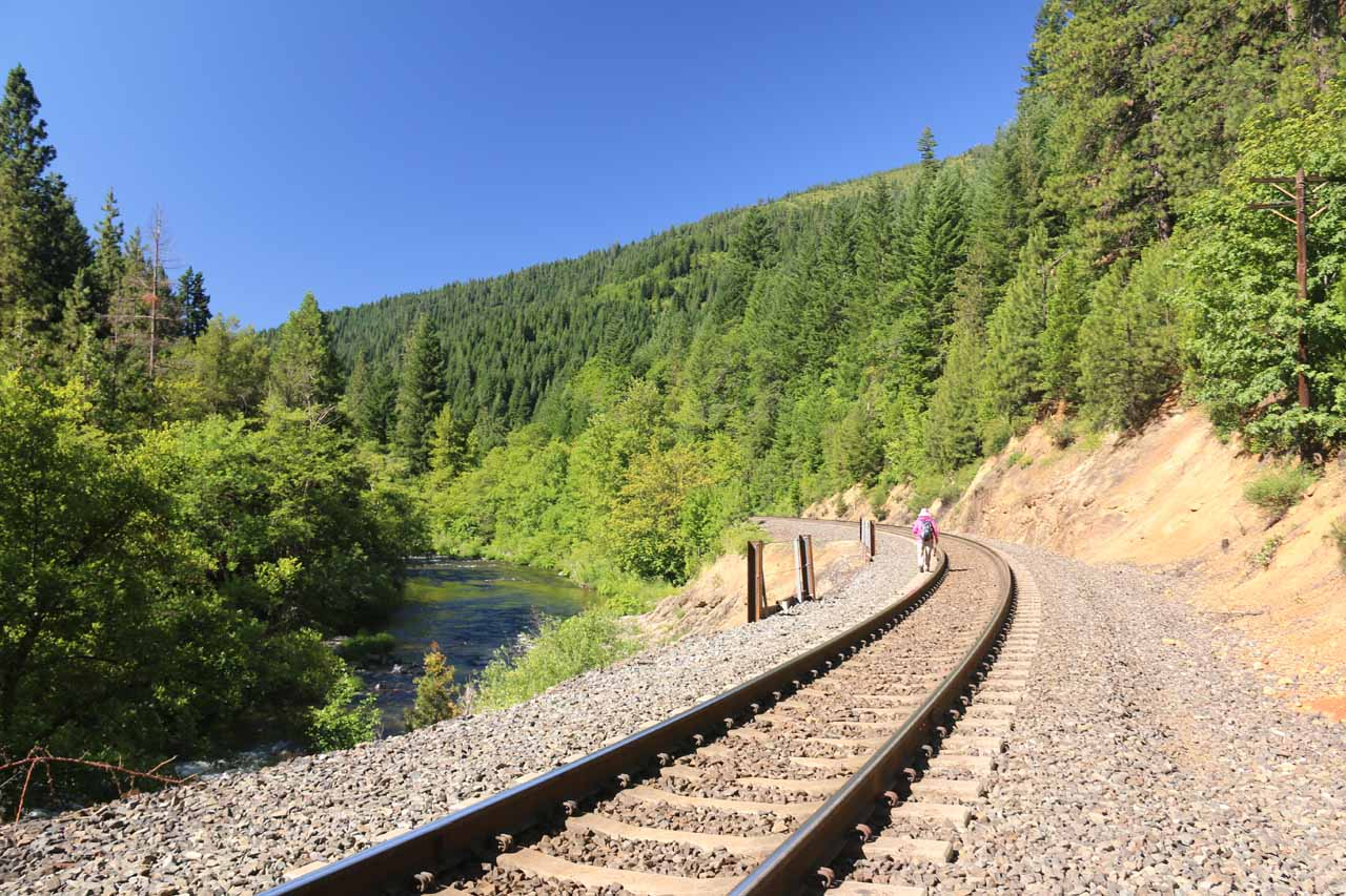 As long as we were hiking on the tracks, the drama was still there