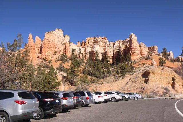 Mossy_Cave_18_002_04032018 - The parking area for the Mossy Cave Trail