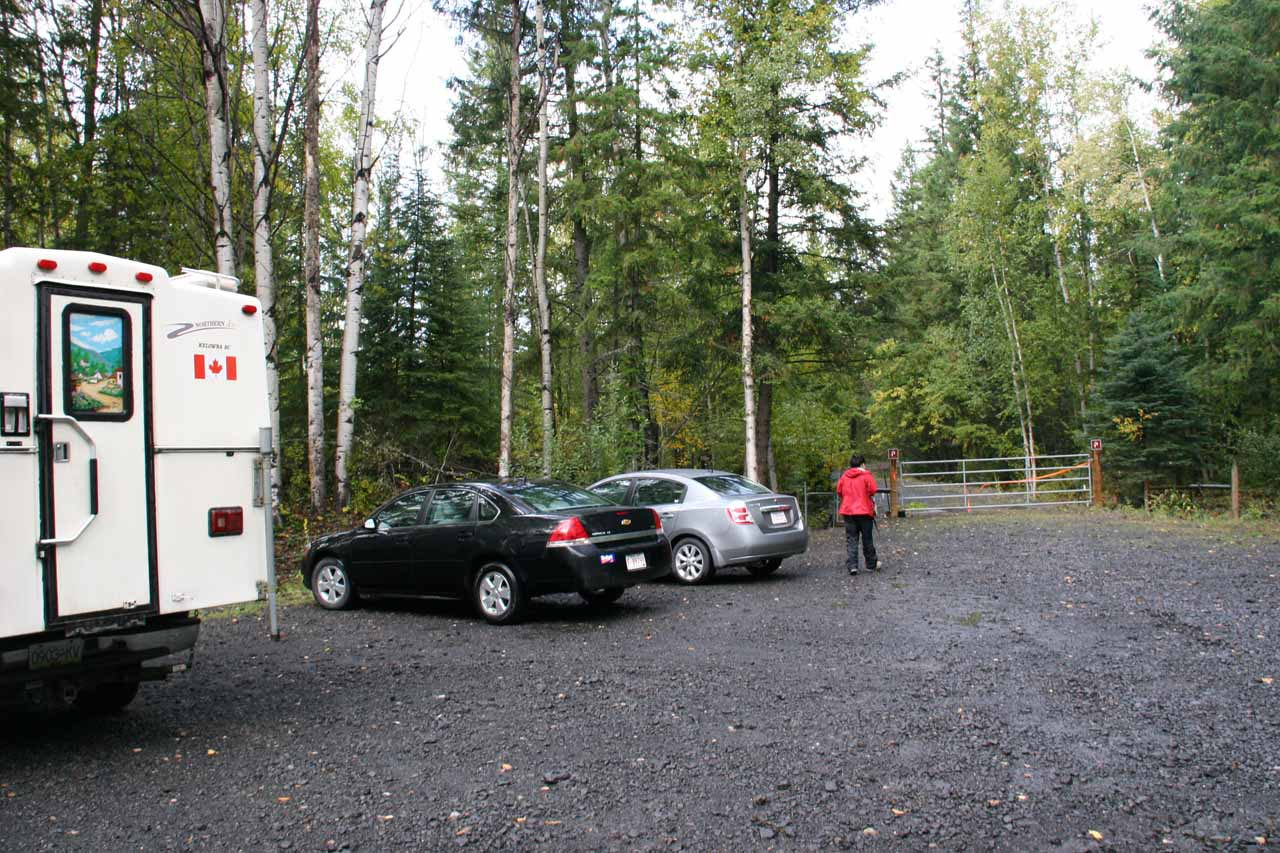 The car park for Moul Falls