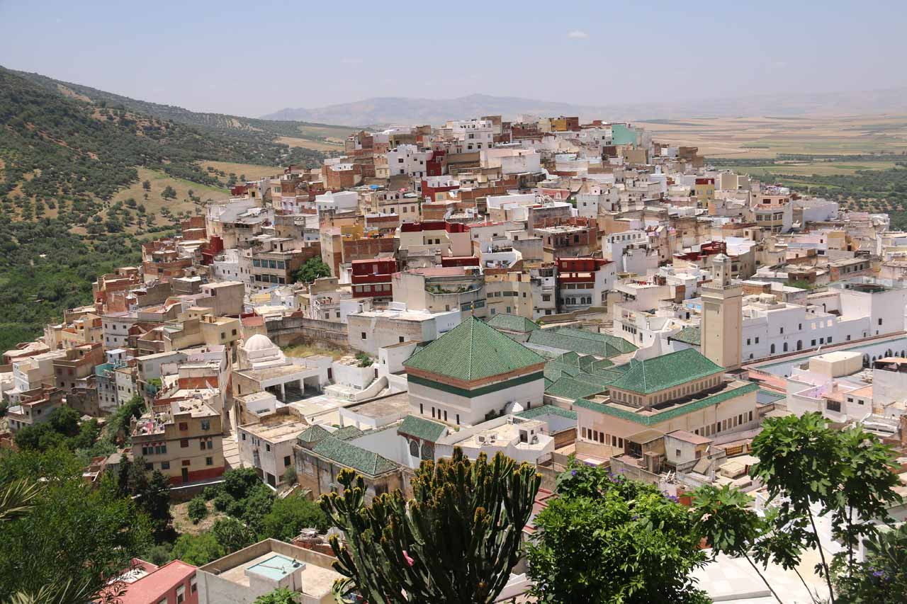 The familiar overlook of the impressive holy city of Moulay Idriss