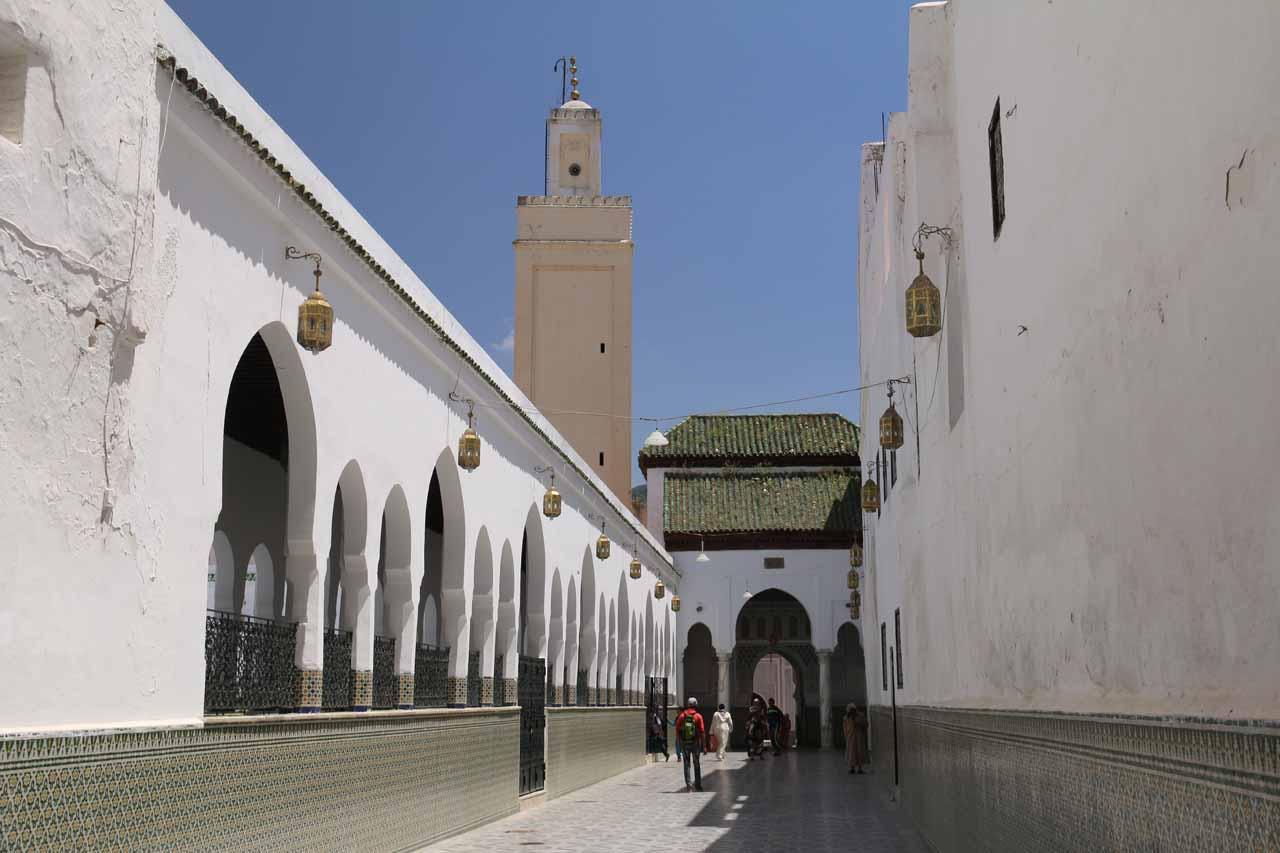 This was as far as we could go before a supervised entryway revealed this entrance to the holy city of Moulay Idriss
