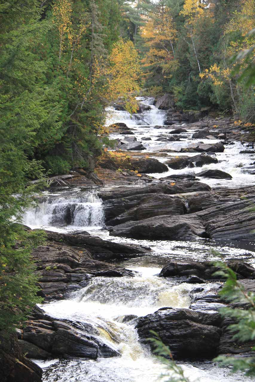 A series of small cascades further upstream of Moxie Falls