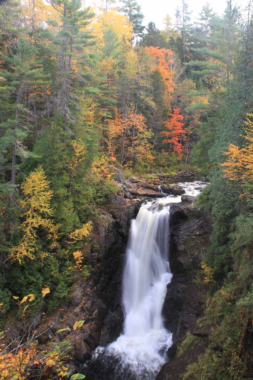 Moxie Falls was pretty, but add to that the beautiful Autumn colors and Moxie Falls would then become simply gorgeous