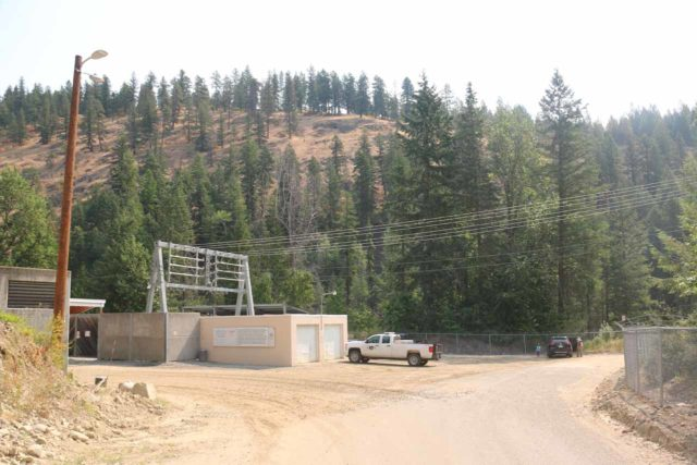 Moyie_Falls_032_08052017 - Approaching the substation where we parked the car to check out the Moyie Falls